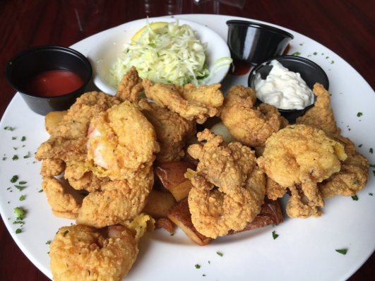 Louisiana Bistreaux Decatur fried grouper and shrimp