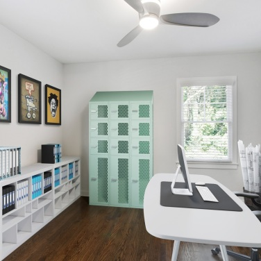 1staged craft room bedroom