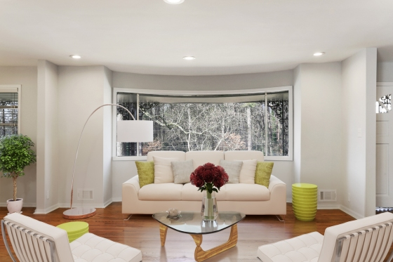 Renovated Living Room in Historic Collier Heights by HausZwei Homes and Kevin Polite Solid Source Realty Inc