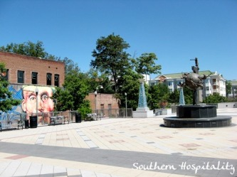 downtown decatur square without people